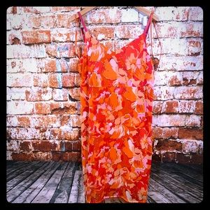 Venezia Orange Beach Dress 18W